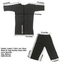 Women/ Ladies T-shirt and Short gym wear made of high quality cotton with lycra