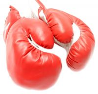 Boxing Training Artificial Leather Gloves padded by wool and acrylic