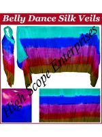 Belly Dance Pure Silk Veils Rectangle size 45x108 inches 5mm Silk Paj