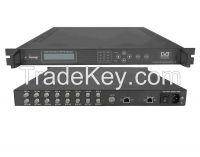 DVB-S x 8-8MPTS IP Gateway(8x DVB-S in, UDP/multicast/Gigabit out)