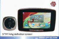 Sell 5.0 inch smart door peephole viewer with doorbell