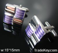 Sell promotional blue shiny crystal cufflink