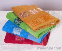 New cotton pure colour applique towel