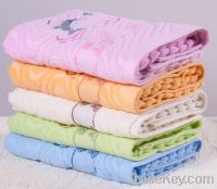 OEM pure Cotton White Blue Family Hand Face Towels