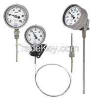 Gas-actuated thermometer Model 73, stainless steel version