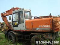 Sell Used Japan Wheel Excavator Hitachi EX160WD