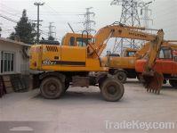 Sell Used Wheel Excavator , Hyundai Wheel Excavator R150w-7