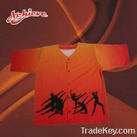 Sell customized baseball jersey with 100%polyester