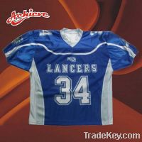 Sell Customized 100% Polyester Mesh Wicking Material American Football Jers