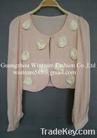 clothes women puff sleeve blazer WT130120 clothing manufacturer