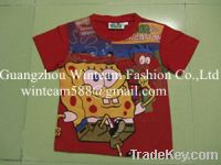 2014 Summer hot sale boy'polo shirt 402445 print shirt for boy