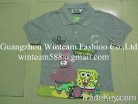 2014 Summer hot sale children's polo shirt 402427 print shirt for Chil