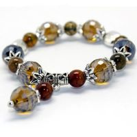 crystal stone bracelet with charm