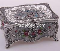 Sell palace  zinc alloy metal jewelry box, gift box