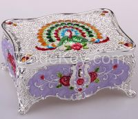 sell palace design alloy jewelry box and gift box