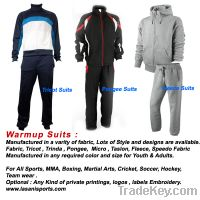 Sell warm up suits jogging suits tracking suits