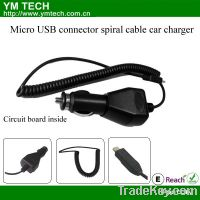 Sell Micro USB connector spiral cable car charger