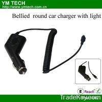 Sell bellied round car charger with light