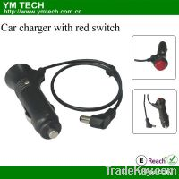 Sell car charger with red switch