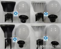 Sell 4W12W LED LIGHT LAMP BULB PLASTIC ALUMINUM PC BODY HEAT SINK COMPONEN