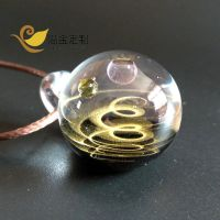 Hand Made Universe Star Starry Sky Gold Foil Glass Beads Necklace