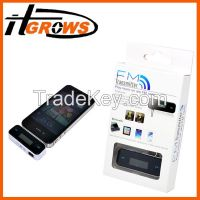 3.5mm In-car Handsfree Wireless FM Transmitter for iPhone 5 4S 4 3G for iPod for Samsung S4 S3