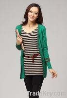 Sell female with button knit cardigan