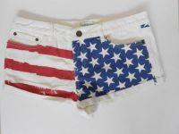 Sell Ladies America Flag Printed Hotpants