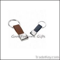 Sell customed printed pu leather loop keychain souvenir