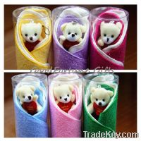 Sell creative cotton animal shape dog bear towel wedding gift souvenir