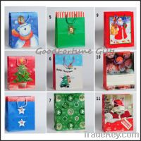 Sell customed promotion chridtmas gift wrapping printed handbag souven