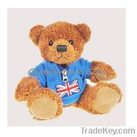 Sell plush T-shirt stuffed brown customed plush bear wedding gift souv