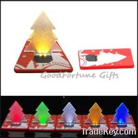 Sell idea led christmas tree card light decor promotion gift souvenir