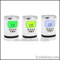 Sell desk pen holder wirh coloured lcd screen with alarm clock
