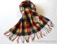 Acrylic Scarf, OEM and ODM Orders are Welcome, Suitable for Ladies