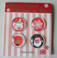 Sell Glass Fridge Magnets 4pcs 25mm in a pvc box