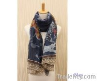Sell New Women Ladies' Elegant World Map Print Scarf Voile Scarves