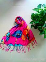 Sell Premium Soft Viscose Flower Floral Print Scarf - Different Colors