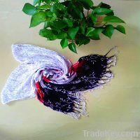 Sell Polka Dot & Rose Head Scarf Shawl Floral Flower