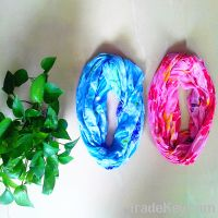 Sell Infinity Floral Design Pattern Scarf Loop Snood- Multicoloured