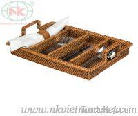 Rattan & bamboo basket