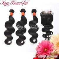 Brazilian Virgin hair 3bundles with closure