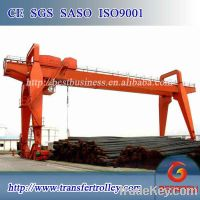 Rail mounted building double girder gantry crane