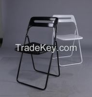 Cheap Outdoor Plastic Folding Chair With Metal Frame