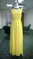 Women Casual silk evening dress V halter dress with goffer