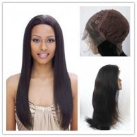 Wholesale  Lace Front Wigs 100% Indian Remy Human Hair 8 to  24inch  silk straight 1B Off Black Cheap Sexy Lace Wig