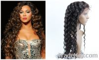 22inch celebrity style lace front wig  deep wave
