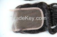 human hair top closure 4inch x 4inch
