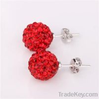 2013 hot selling shamball earrings jewelry