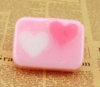 Rose oil heart hanamde soap